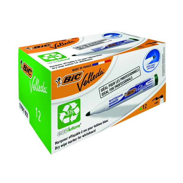Bic Velleda 1701 Drywipe Marker Green (Pack of 12) 1199170102