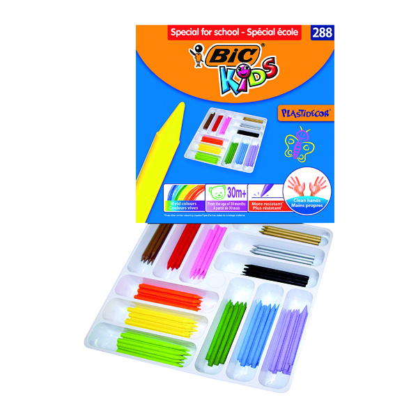 Image for Bic Kids Plastidecor Crayons Assorted (Pack of 288) 887835