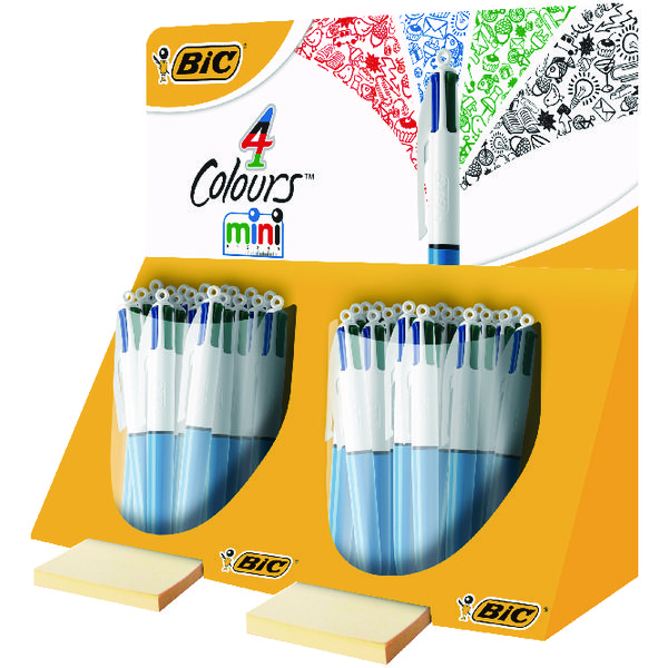 Bic 4 Colours In 1 Mini Ballpoint Pen (Pack of 40) In Counter Display Unit 895959