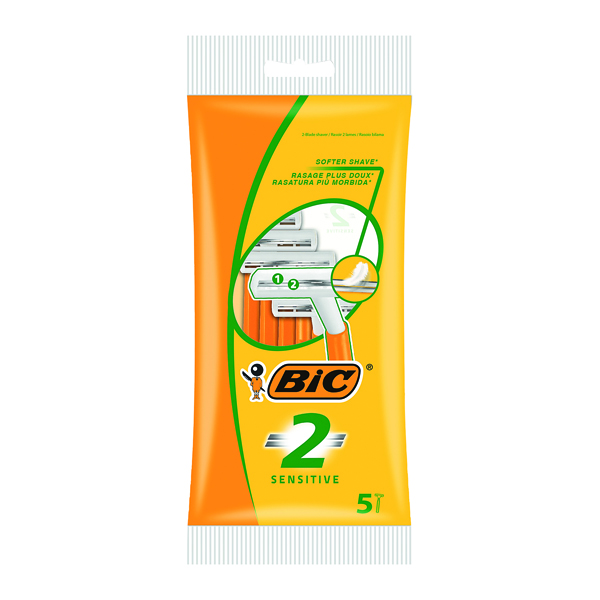 Image for Bic 2 Sensitive Twin Blade Shavers (Pack of 100) 838528
