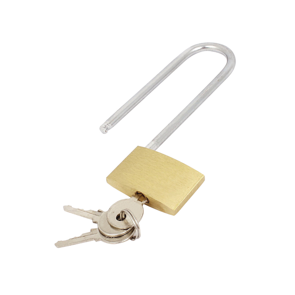 Image for Brass Padlock Long Shackle (Shackle 60mm x 20mm, Body 40mm x 30mm) 041647