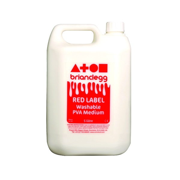 Brian Clegg PVA Glue Red Label 5 Litre GL01