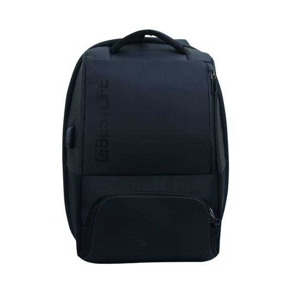 BestLife 15.6 Inch Neoton Laptop Backpack with USB Connector BB-3401BK-1-15,6