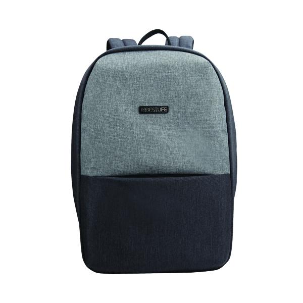 BestLife Travelsafe 15.6 Inch Laptop Backpack + USB Connector 460x170x290mm Light Grey BB-3452G-R1