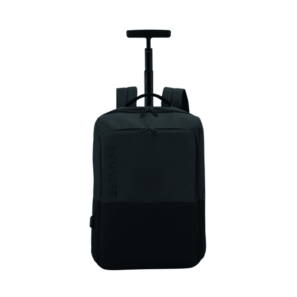 BestLife Travel Trolley Bag with USB Connector BT-3401BK-1