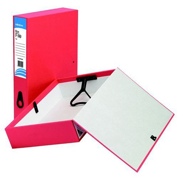 Initiative Lockspring Box File A4/Foolscap 70mm Capacity Red