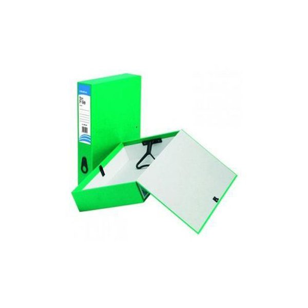 Initiative Lockspring Box File A4/Foolscap 70mm Capacity Green