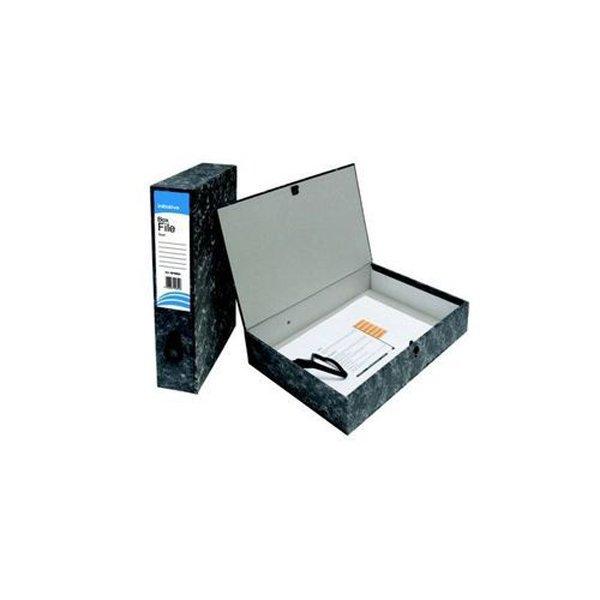 Initiative Lockspring Box File A4/Foolscap 70mm Capacity Black Cloud