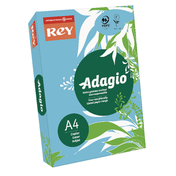 Adagio Bright Blue A4 Coloured Card 160gsm (Pack of 250) 201.1211