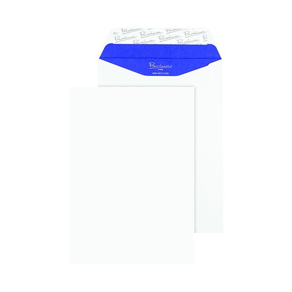 Blake PremiumPure C5 Recycled Peel & Seal White Envelopes (Pack of 50) RP83455