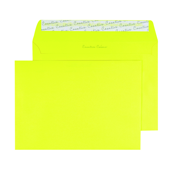 C5 Wallet Envelope Peel and Seal 120gsm Banana Yellow (Pack of 250) BLK93019