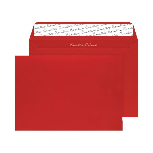C4 Wallet Envelope Peel and Seal 120gsm Pillar Box Red (Pack of 250)