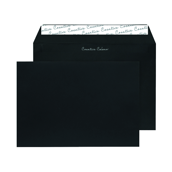 C5 Wallet Envelope Peel and Seal 120gsm Jet Black (Pack of 250) 314