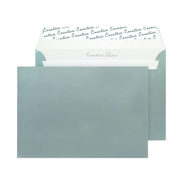 C5 Wallet Envelope Peel and Seal 130gsm Metallic Silver (Pack of 250) 312