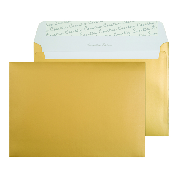 C5 Wallet Envelope Peel and Seal 130gsm Metallic Gold (Pack of 250) 313