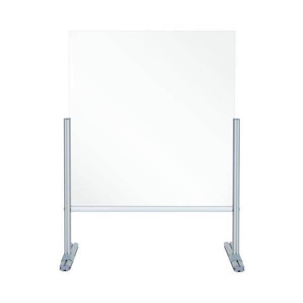 Bi-Office Balcony Desk Transparent Acrylic Panel 650x600mm DSP692941