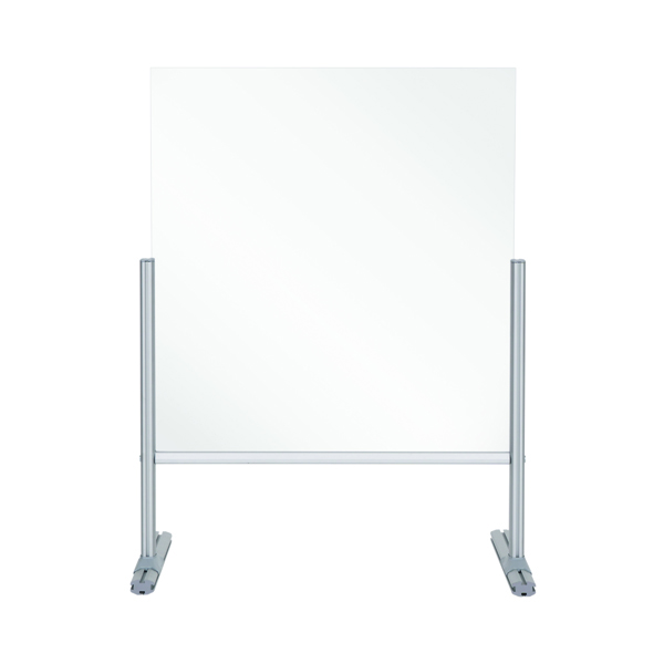 Bi-Office Balcony Desk Transparent Acrylic Panel 850x800mm DSP702941
