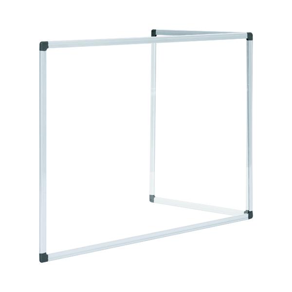 Bi-Office Duo Glass Board 1200x900 Aluminium GL08209101