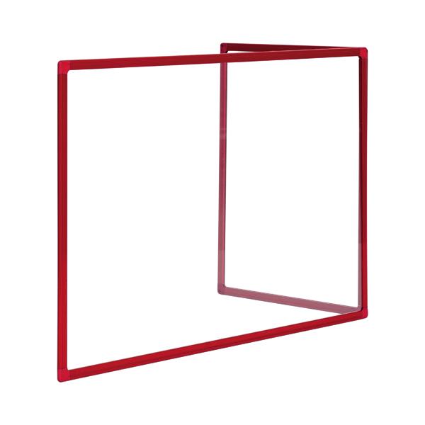 Bi-Office Duo Glass Board 1200x900 3mm Red GL08209201