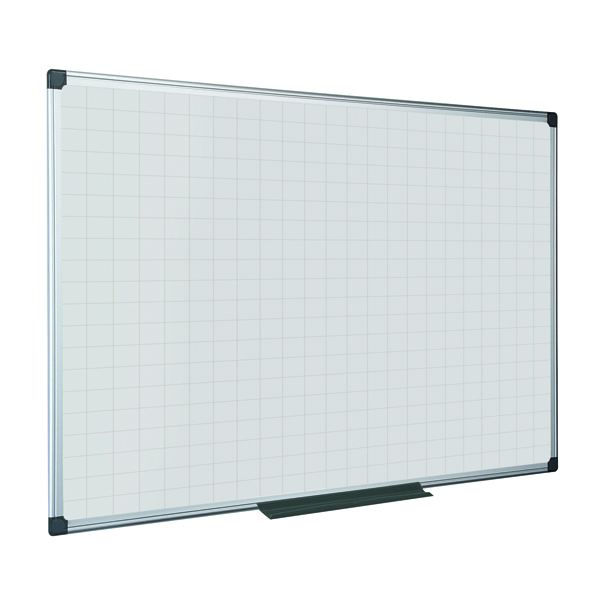 Bi-Office Maya Magnetic Whiteboard Gridded 600x450mm MA0247170