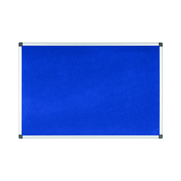 Bi-Office Aluminium Trim Felt Notice Board 900x600mm Blue FA0343170