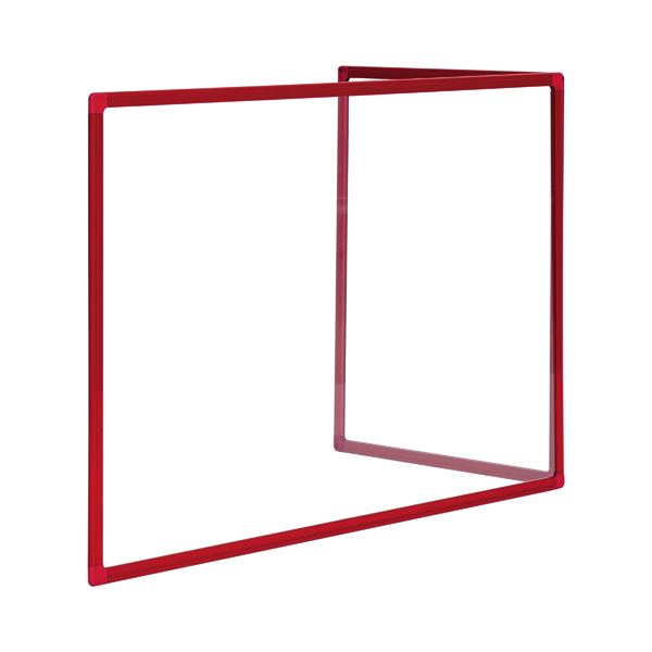 Bi-Office Duo Acrylic Board 1200x900mm Maya Red Alum Frame AC05209111