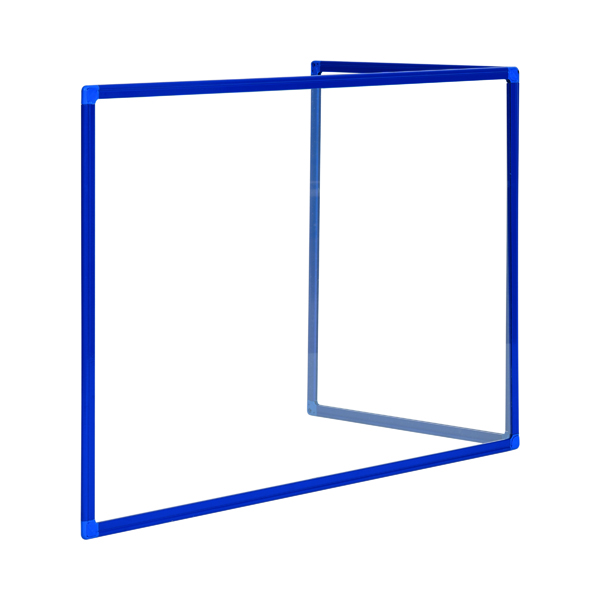 Bi-Office Duo Acrylic Board 900x600mm Maya Blue Frame AC03209121