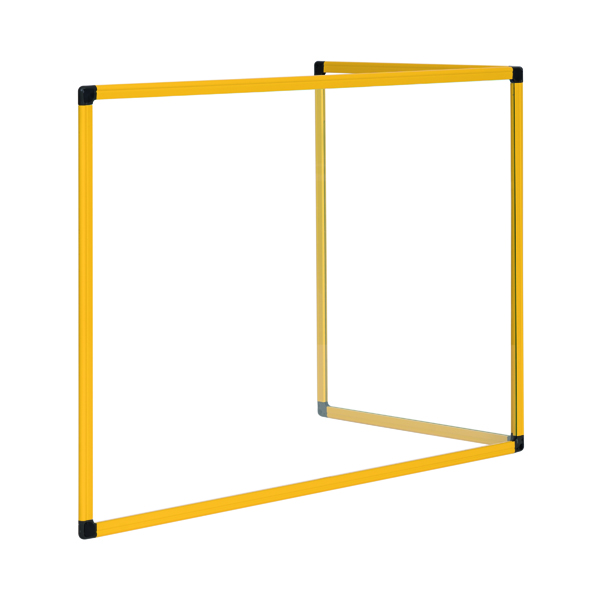 Bi-Office Duo Acrylic Board 1200x900mm Maya Yellow Frame AC05209131