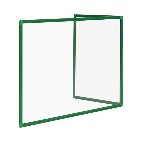 Bi-Office Duo Acrylic Board 1200x900mm Maya Green Frame AC05209141