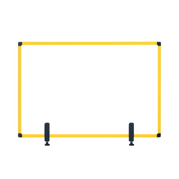 Bi-Office Protect Desktop Acrylic Board Ylw Frame 900x600 AC03019131