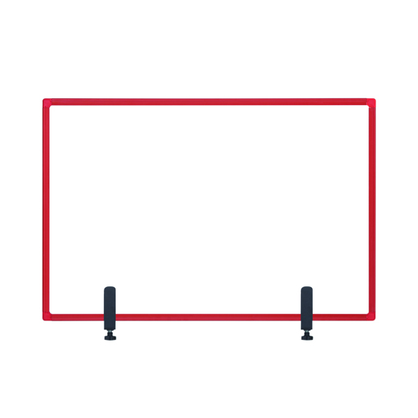 Bi-Office Protect Desktop Acrylic Board Red Frame 1200x900 AC05019111