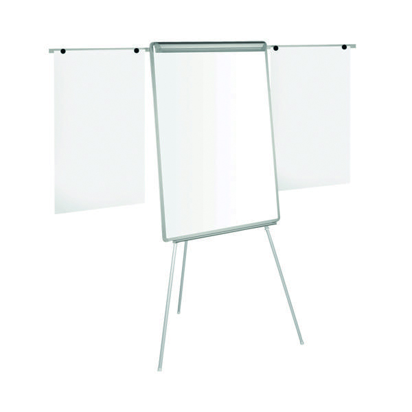 Image for Bi-Office Easy Flipchart Easel A1 White (Extendable arms for extra pages) EA4600046