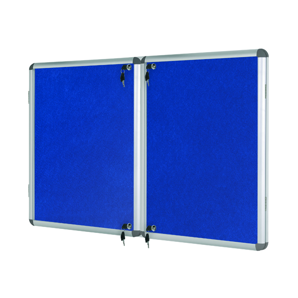 Bi-Office Lockable Internal Display Case 1780x1180mm Blue VT770107150