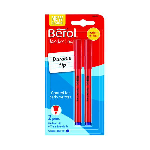 Berol Handwriting Blue Pen Blister Card (Pack of 24) S0672920