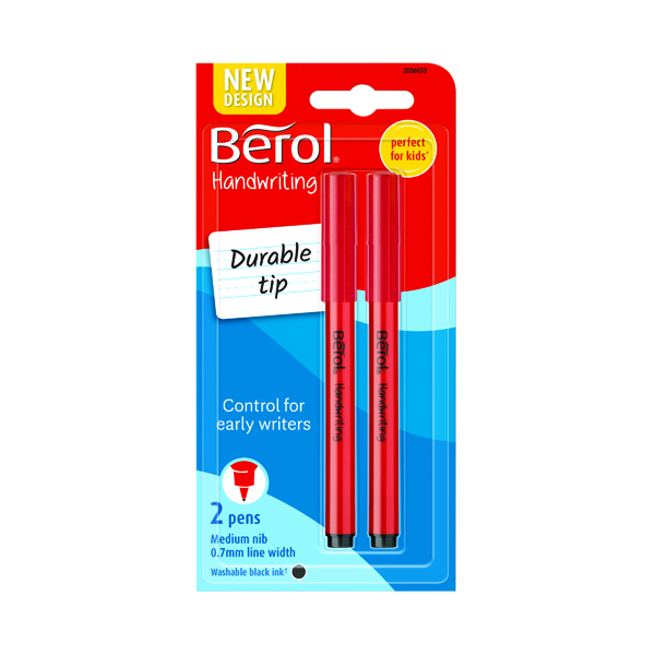 Berol Handwriting Pen Blister Card Black (Pack of 24) S0672930