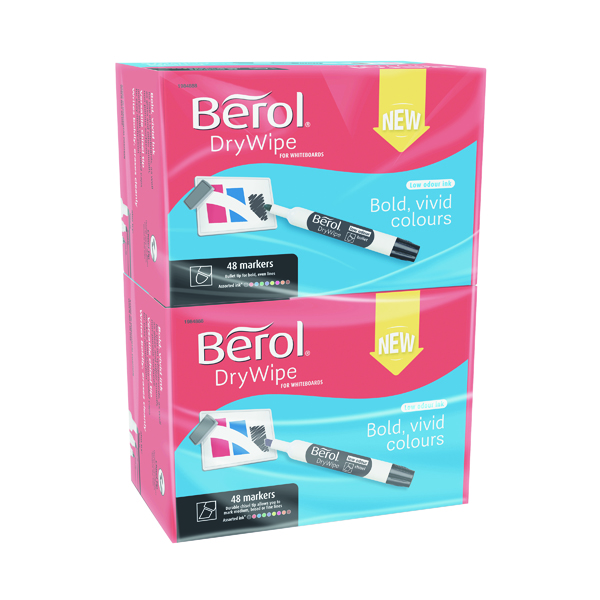Image for Berol Drywipe Marker Chisel Tip Assorted (Pack of 96) 1984888