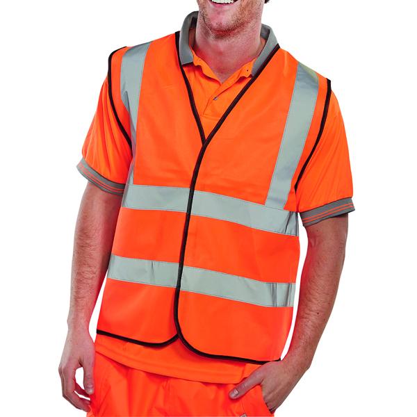 Hi Visibility Vest EN ISO20471 Orange Large WCENGORL