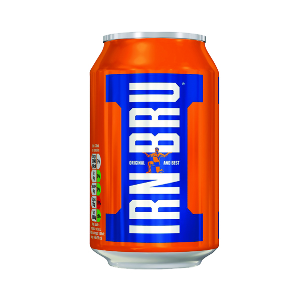 Image for Barrs Irn Bru 330ml Cans (Pack of 24) 982601