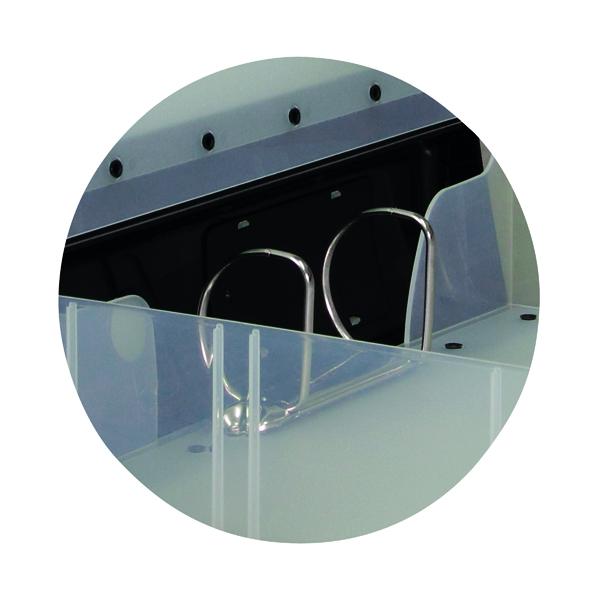 Hermes Heavy Duty 80mm 2D-Ring Polypropylene Box File A4 Black 8.BA4.001