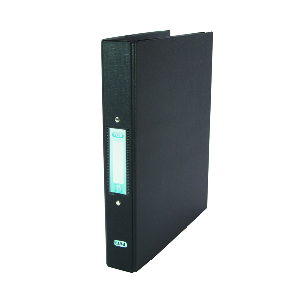 Elba Black A4 2 Ring Binder 25mm (Pack of 10) 400001512