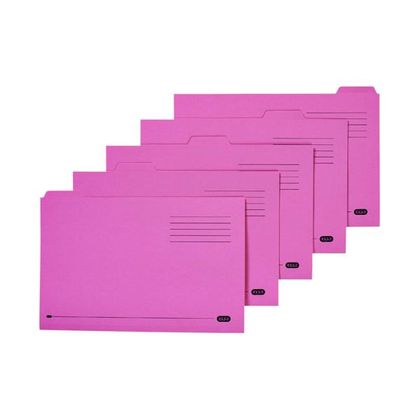 Elba 5 Tabbed Folder Manilla 250g  FC Pink (Pack of 20) 100090236