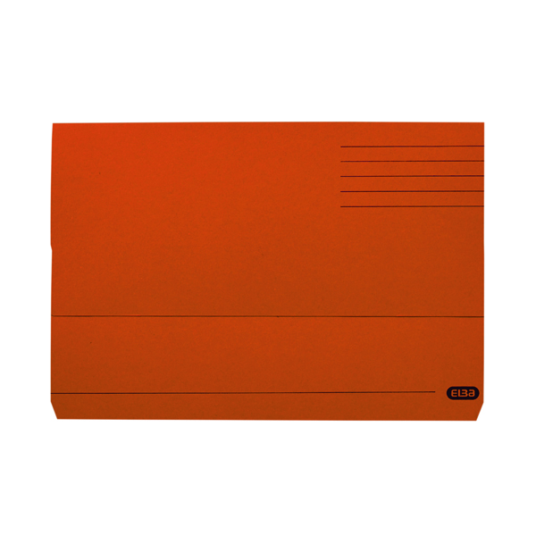 Elba Document Wallet Manilla 285gsm FC Orange (Pack of 50) 100090241