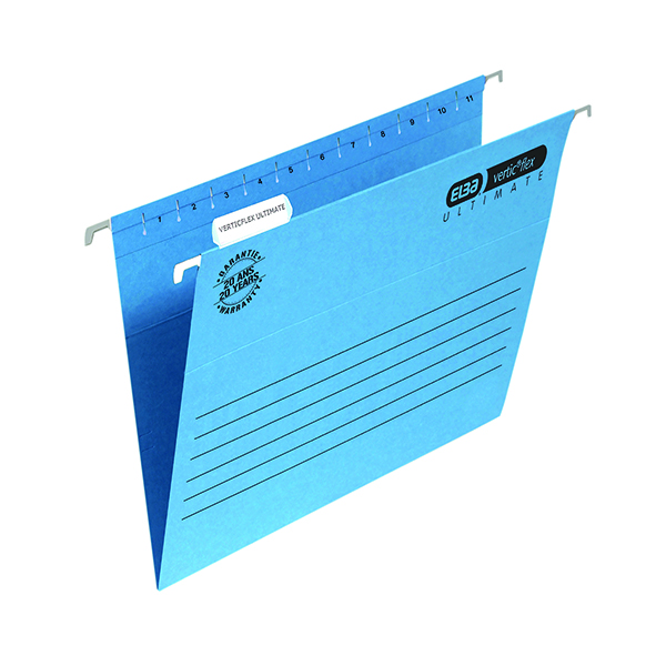 Elba Suspension File Manilla Foolscap Blue (Pack of 25) 100331168