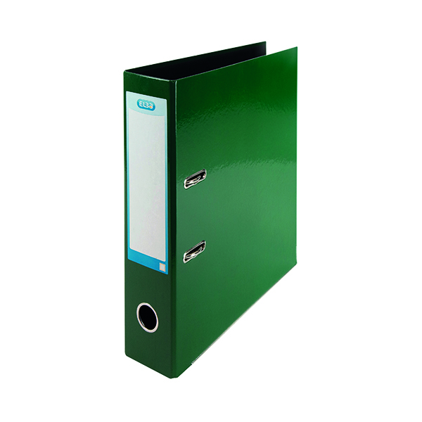 Elba 70mm Lever Arch File Laminated A4+ Green 400107388