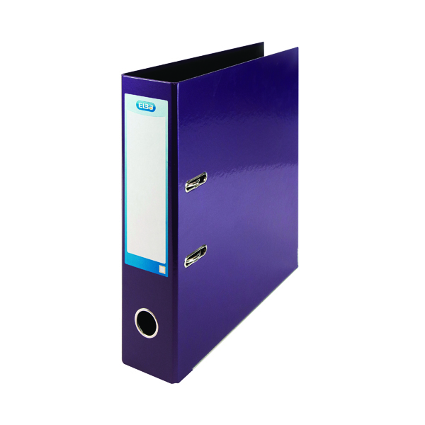 Elba Classy 70mm Lever Arch File A4 Metallic Purple 400107440