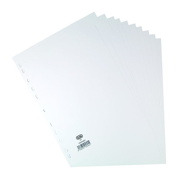 Elba 10-Part Divider 160gsm Manilla Multipunched A4 White 100204881