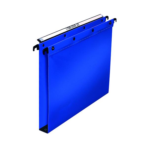 Elba Suspension File PP 30mm Foolscap Blue (Pack of 25) 100330371