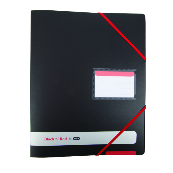 Elba Black n Red 16mm 4 Ring Binder A4 Buy One Get One Free (Pack of 2)