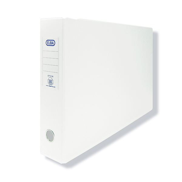 Elba Lever Arch PVC Oblong 75mm A3 White (Pack of 2) 100082445
