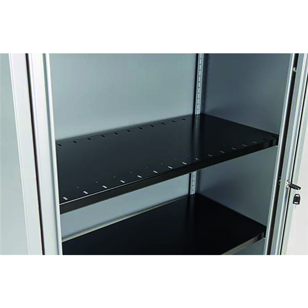Bisley Slotted Shelf Black (For use with Bisley Cupboards and Tambour Units) BSSGY